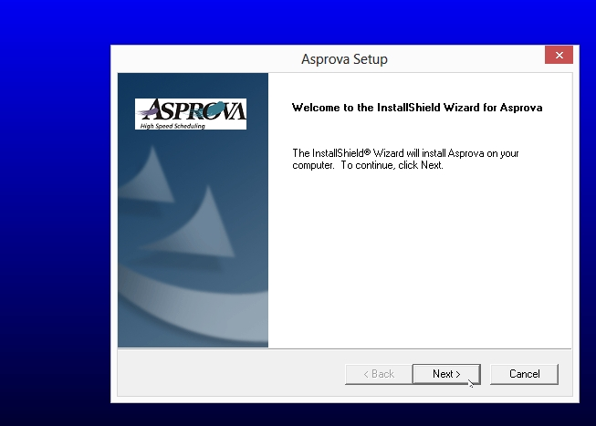 step07 - welcome to asprova setup