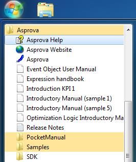 Find Asprova Help File
