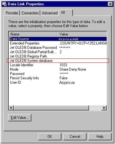 Connecting to an MDB file with a password set - Asprova